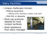 dairy facilities