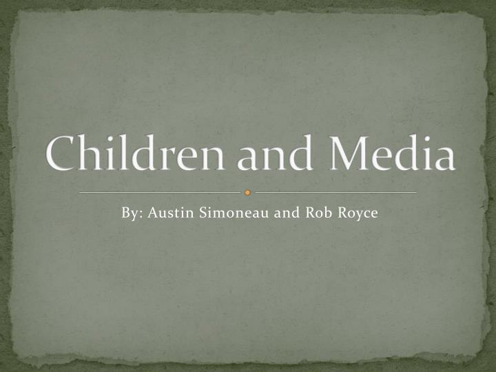 children and media n.