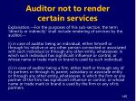 auditor not to render certain services3