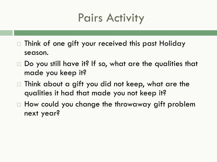 Pairs Activity