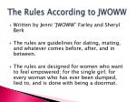the rules according to jwoww1