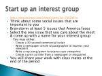 start up an interest group