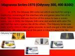 magnavox series 1976 odyssey 300 400 500
