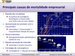 principais causas de mortalidade empresarial