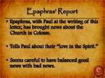 epaphras report