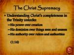 the christ supremacy1