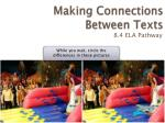 making connections between texts