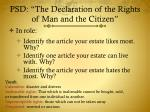 psd the declaration of the rights of man and the citizen