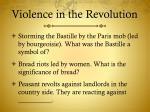 violence in the revolution