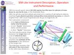 sim lite instrument description operation and performance