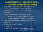 accountability of organizations collective moral responsibility