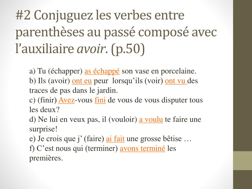 Ppt La Conjugaison Powerpoint Presentation Free Download Id 2220768