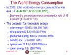 the world energy consumption