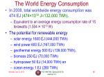 the world energy consumption