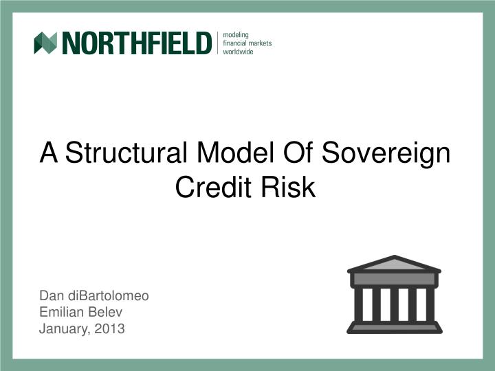 a structural model of sovereign credit risk n.