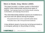 more on bodie gray merton 2005