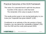 practical outcomes of the cca framework