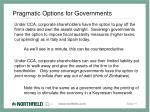 pragmatic options for governments