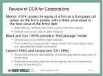 review of cca for corporations