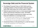 sovereign debt and the financial system