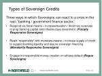 types of sovereign credits