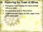 a exploring the coast of africa