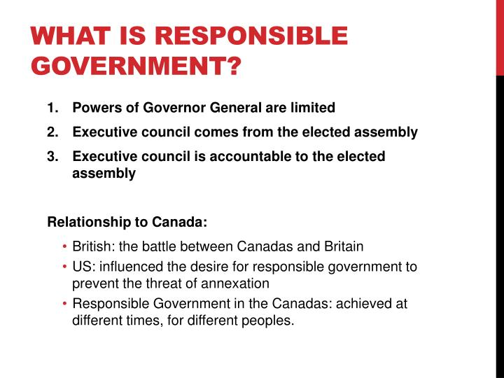 What is Responsible government?