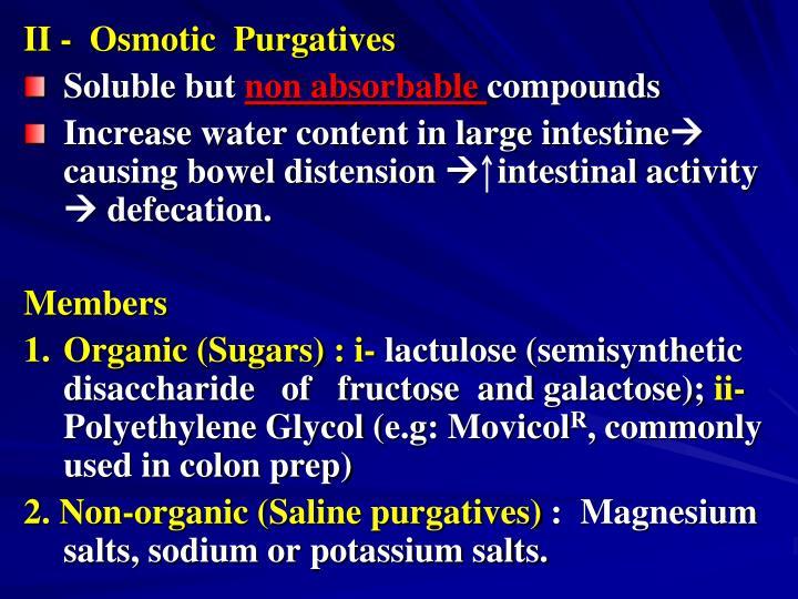 II -  Osmotic  Purgatives