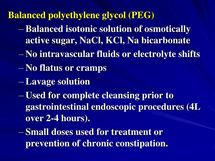 Balanced polyethylene glycol (PEG)
