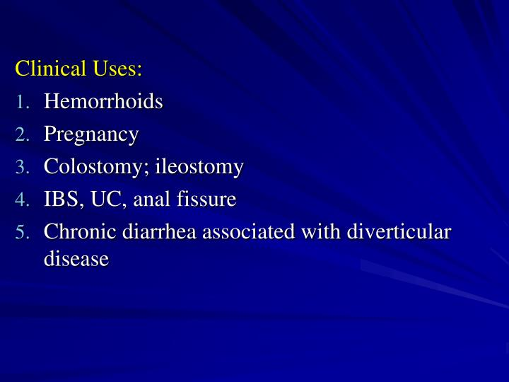 Clinical Uses: