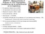 mopitt measurements of pollution in the troposphere mediciones de la contaminaci n en la trop sfera