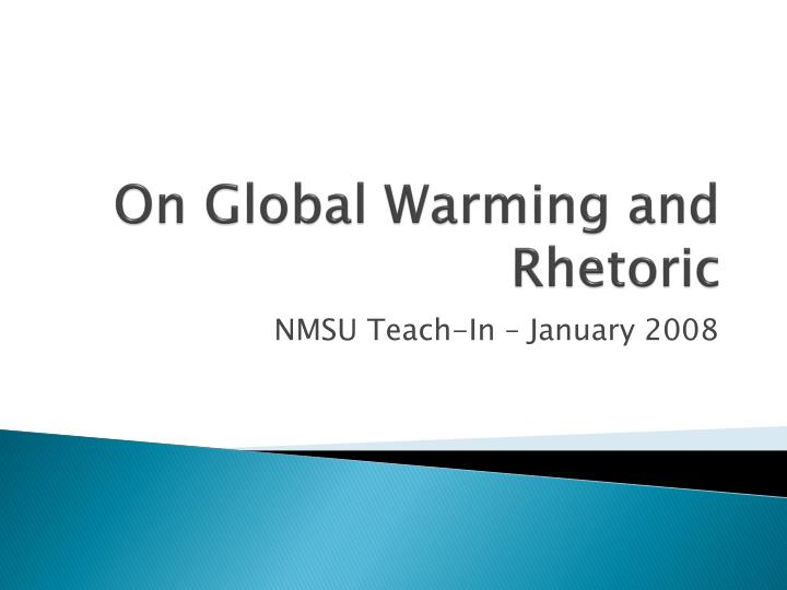on global warming and rhetoric n.