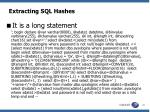extracting sql hashes