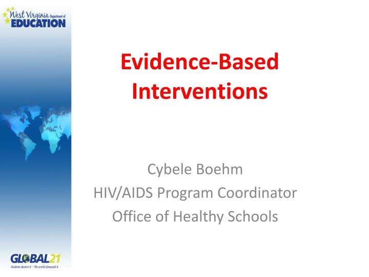 evidence based interventions n.