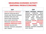 measuring economic activity national product income