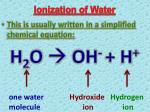 ionization of water2