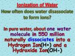 ionization of water3