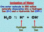 ionization of water5