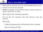 why to write shell script