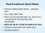 dual enrollment quick notes