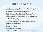 hope scholarship