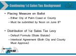 continuing sales tax background