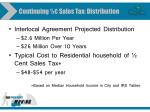 continuing sales tax distribution