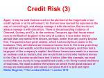 credit risk 3