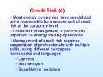 credit risk 4