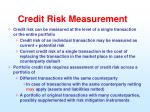 credit risk measurement1