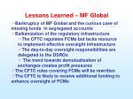 lessons learned mf global