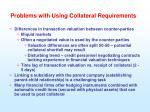 problems with using collateral requirements