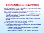 setting collateral requirements