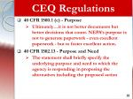 ceq regulations